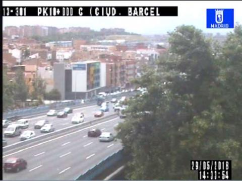 Traffic in Ciudad de Barcelona, pte de Vallecas – M-30