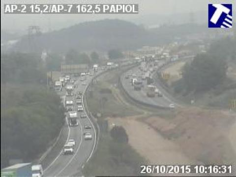 Traffic of the AP-2 (Km 15.20) at Papiol
