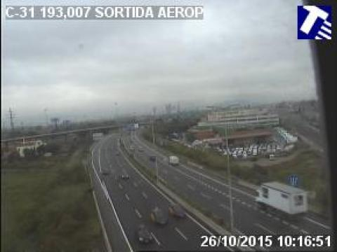 Traffic of the C-31 (Km 193.01) Prat de Llobregat