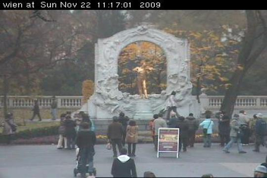 Vienna Webcam, Wien Johann Strauss Monument