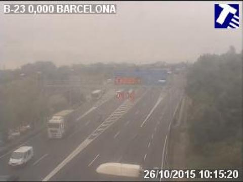 Traffic of the B-23 (Km 0.00) at Barcelona