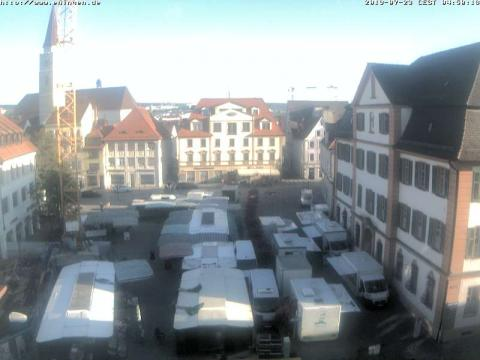 Webcam in Germany, Ehinger Markt square