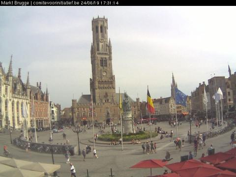 West Flanders Webcam, Bruges Market square
