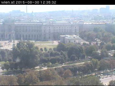 Vienna Webcam, Wien Hofburg and Heldentor