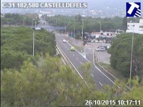 Traffic of the C-31 (Km 182.65) at Castelldefels