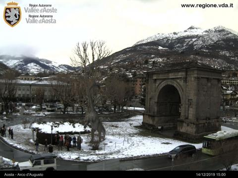 Aosta Valley Webcam, Aosta Arco d'Augusto