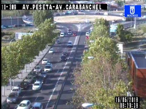Traffic in Avd. Peseta – Avd. Carabachel