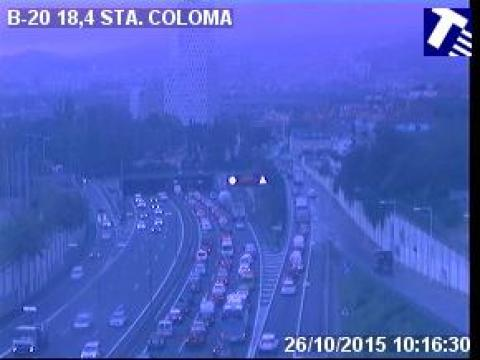 Traffic of the B-20 (Km 18.40) at Santa Coloma de Gramenet