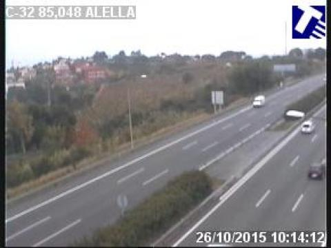 Traffic of the C-32 (Km 85.05) at Alella