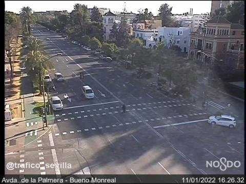Traffic in Avda. de la Palmera – Bueno Monreal