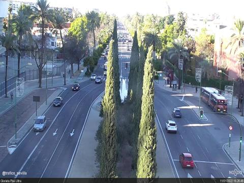 Traffic in Avda. de la Palmera – Glorieta Plus Ultra – Ctra. Cádiz