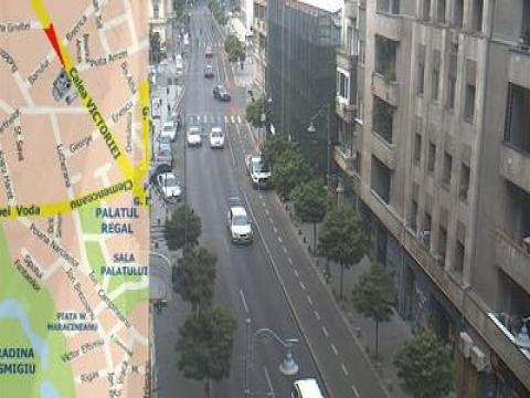 Bucharest Webcam, Piata Universitatii