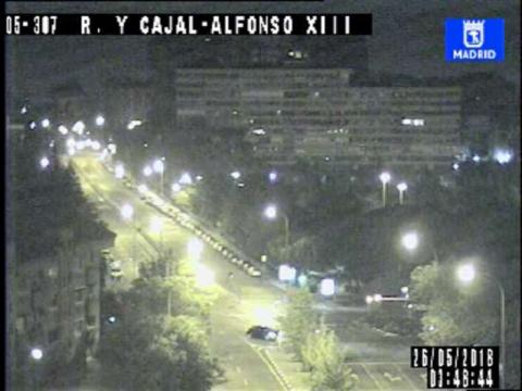 Traffic in Ramon y Cajal- Alfonso XII